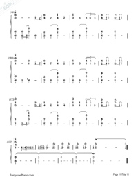 Lemon-Unnatural Main Theme-Numbered-Musical-Notation-Preview-11