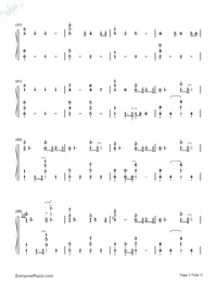 Lemon-Unnatural Main Theme-Numbered-Musical-Notation-Preview-3