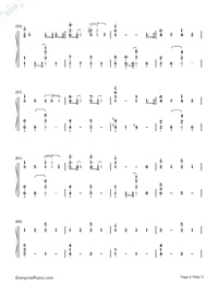 Lemon-Unnatural Main Theme-Numbered-Musical-Notation-Preview-4