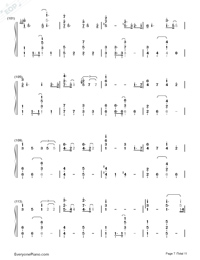 Lemon-Unnatural Main Theme-Numbered-Musical-Notation-Preview-7