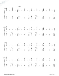 Lemon-Unnatural Main Theme-Numbered-Musical-Notation-Preview-8