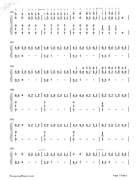 Horizon-Simple Version Numbered Musical Notation Preview 3