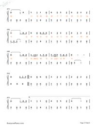 牧馬城市-老男孩片尾曲雙手簡譜預覽3