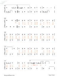 牧馬城市-老男孩片尾曲雙手簡譜預覽4
