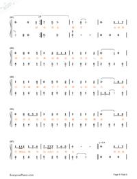 牧馬城市-老男孩片尾曲雙手簡譜預覽5