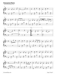 牧馬城市-老男孩片尾曲五線譜預覽2