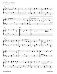 牧馬城市-老男孩片尾曲五線譜預覽4