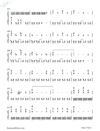 The Imitation Game-The Imitation Game Main Theme Numbered Musical Notation Preview 2
