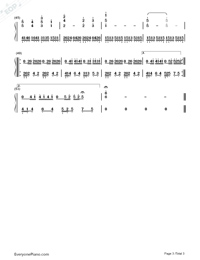 The Imitation Game-The Imitation Game Main Theme Numbered Musical Notation Preview 3