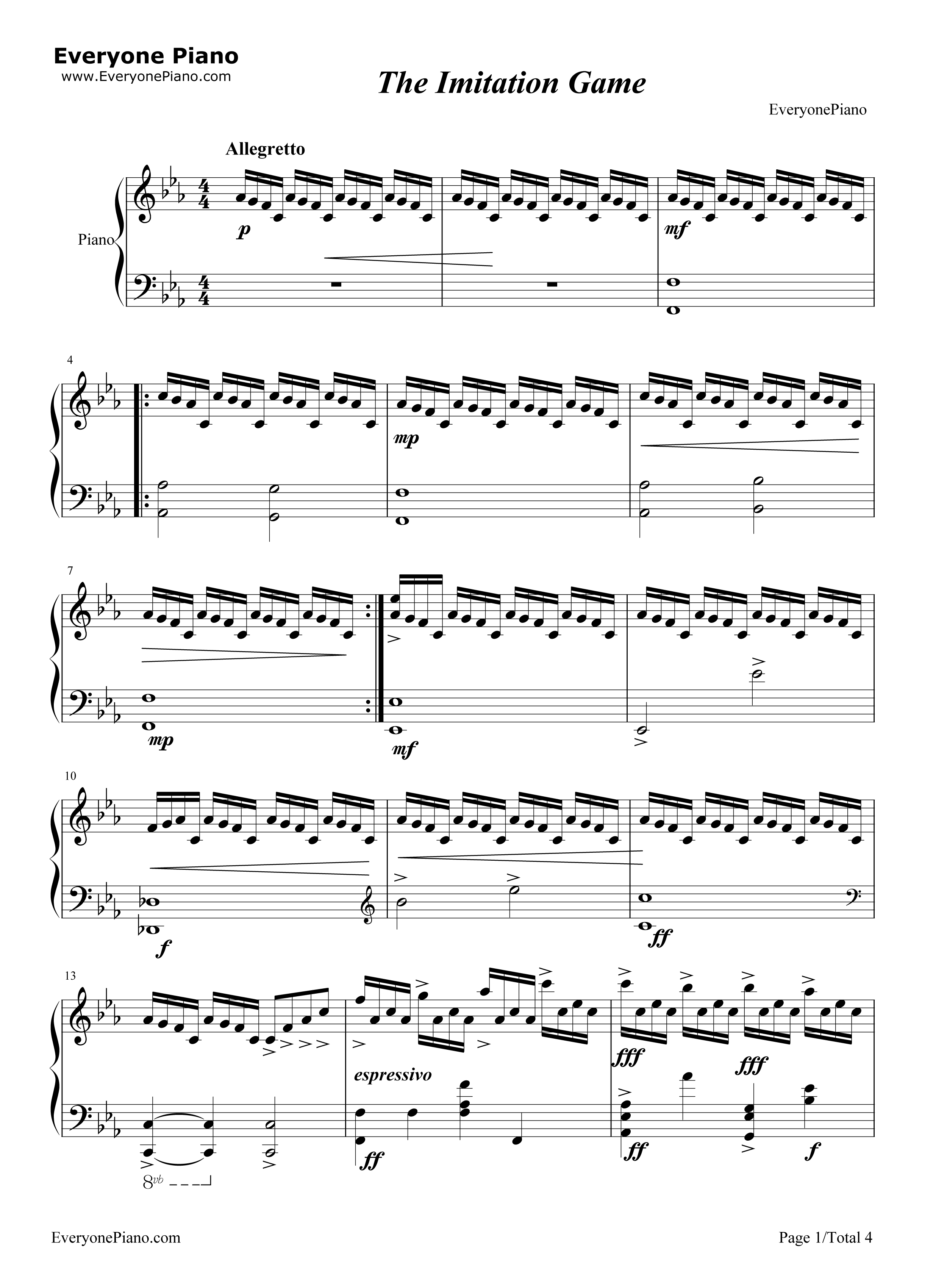 Super Mario Bros Theme Piano Sheet Music Musescore