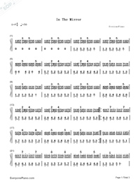 In the Mirror-Yanni Numbered Musical Notation Preview 1