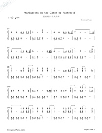 Variations On The Canon-David Lanz-Numbered-Musical-Notation-Preview-1