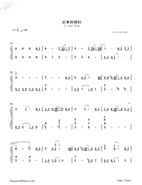 Us and Them-Mayday-Numbered-Musical-Notation-Preview-1