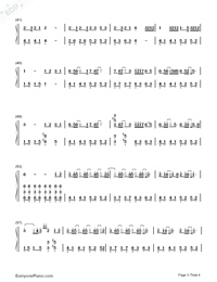 The Wind Rises-Takahashi Yuu-Numbered-Musical-Notation-Preview-3