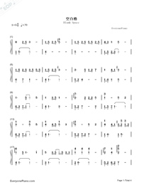 Blank Space-But Always ED-Numbered-Musical-Notation-Preview-1