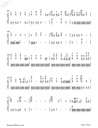 Blank Space-But Always ED-Numbered-Musical-Notation-Preview-3