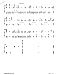 Blank Space-But Always ED-Numbered-Musical-Notation-Preview-4