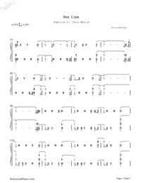 Homesick-Dua Lipa-Numbered-Musical-Notation-Preview-1
