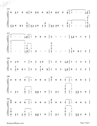 Homesick-Dua Lipa-Numbered-Musical-Notation-Preview-3