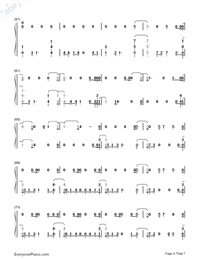 Homesick-Dua Lipa-Numbered-Musical-Notation-Preview-4