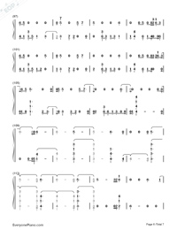 Homesick-Dua Lipa-Numbered-Musical-Notation-Preview-6