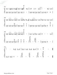 慢慢喜歡你-莫文蔚雙手簡譜預覽3