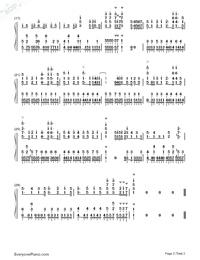 ノスタルジックレインフォール-恋は雨上がりのようにOP両手略譜プレビュー2