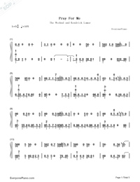 Pray for Me-Black Panther OST-Numbered-Musical-Notation-Preview-1