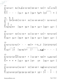 深海少女-完整版雙手簡譜預覽2