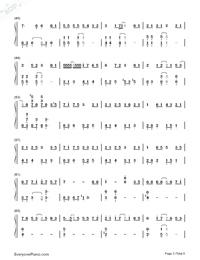 深海少女-完整版雙手簡譜預覽3