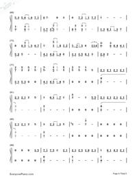 深海少女-完整版雙手簡譜預覽4
