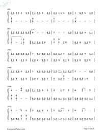深海少女-完整版雙手簡譜預覽5