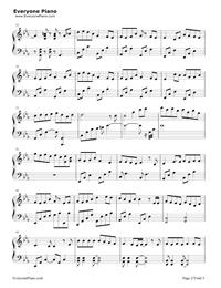 深海少女-完整版五線譜預覽2