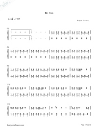 Me Too-Meghan Trainor-Numbered-Musical-Notation-Preview-1