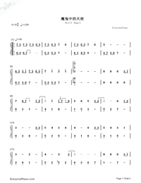 Devil Like an Angel-Hebe Tien-Numbered-Musical-Notation-Preview-1