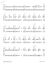 In My Blood-Shawn Mendes Numbered Musical Notation Preview 4