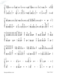 No Excuses-Meghan Trainor-Numbered-Musical-Notation-Preview-2