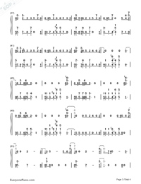 No Excuses-Meghan Trainor-Numbered-Musical-Notation-Preview-3