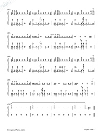 No Excuses-Meghan Trainor-Numbered-Musical-Notation-Preview-4