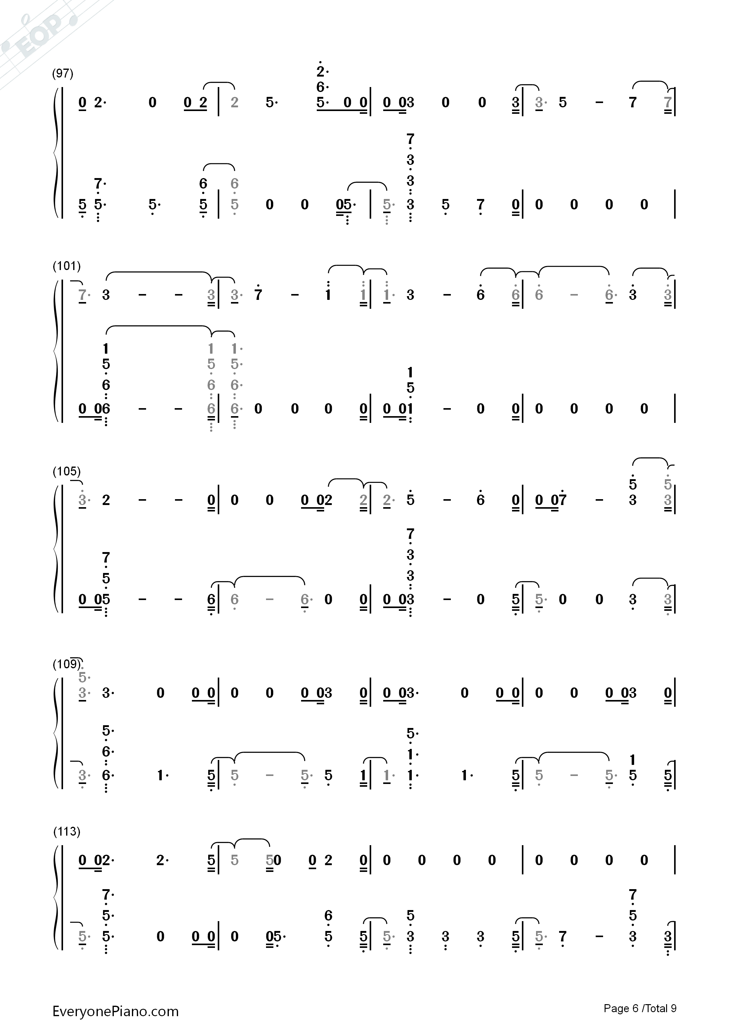 The Champion-Carrie Underwood ft Ludacris Numbered Musical Notation Preview 6