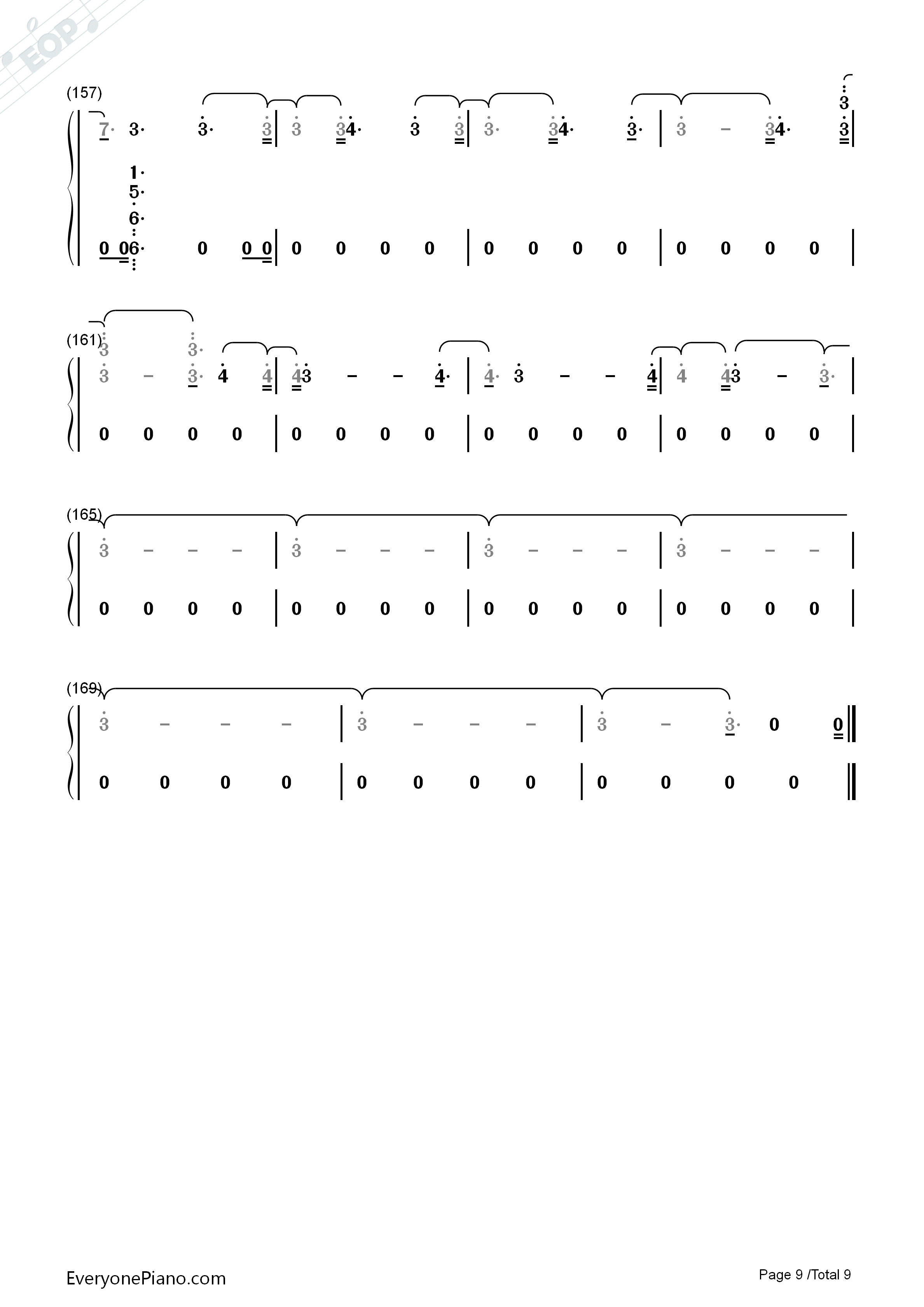The Champion-Carrie Underwood ft Ludacris Numbered Musical Notation Preview 9