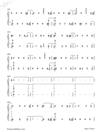 The Champion-Carrie Underwood ft Ludacris Numbered Musical Notation Preview 3