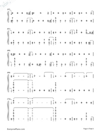 The Champion-Carrie Underwood ft Ludacris Numbered Musical Notation Preview 4
