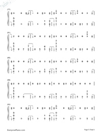 The Champion-Carrie Underwood ft Ludacris-Numbered-Musical-Notation-Preview-5