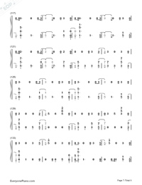The Champion-Carrie Underwood ft Ludacris Numbered Musical Notation Preview 7