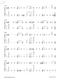 The Champion-Carrie Underwood ft Ludacris-Numbered-Musical-Notation-Preview-8