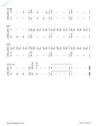 Sora to Kaze to Koi no Waltz-Minami Tsuda-Numbered-Musical-Notation-Preview-10