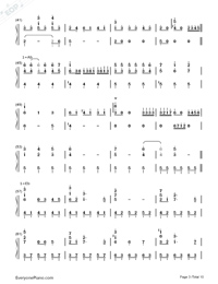 Sora to Kaze to Koi no Waltz-Minami Tsuda-Numbered-Musical-Notation-Preview-3