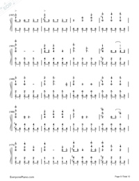 Sora to Kaze to Koi no Waltz-Minami Tsuda-Numbered-Musical-Notation-Preview-8