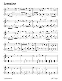 什麽歌-捉妖記2主題曲五線譜預覽2